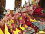 Buddhist monks at the Dalai Lama's temple, Dharamsala.