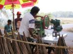 Sugarcane juice stand. Calangut, Goa.