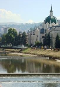 The Miljacka River, Sarajevo.