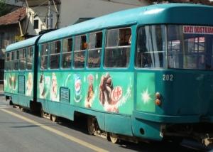 Tram in Sarajevo.